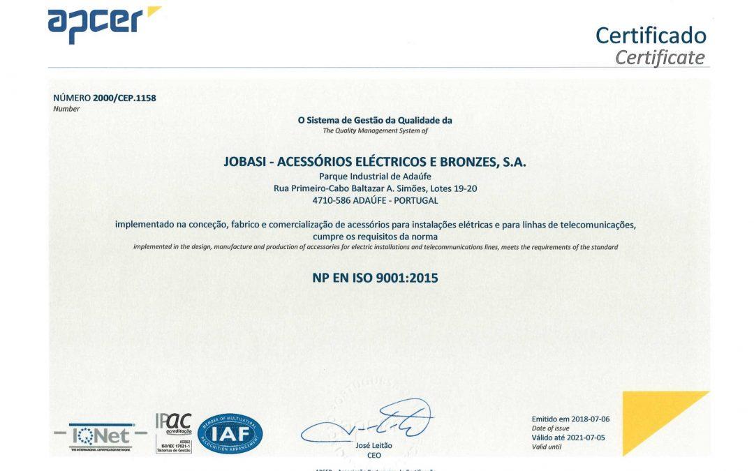 PASSAMOS A EMPRESA CERTIFICADA ISO 9001:2015